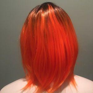 Short Orange Costume Wig